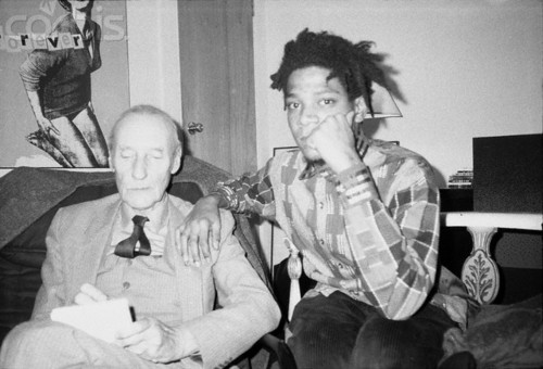 William Burroughs and Jean Michel Basquiat